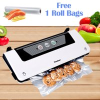 2-in-1 Automatic Vacuum Sealer Food Saver Vacuum Sealing System Machine with Built-in Bag Cutter & Starter Kit
