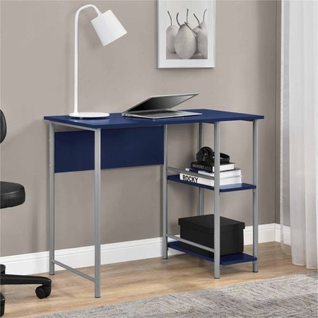 Ameriwood Home Garrett Metal office Desk with 2 side Shelves, Multiple Colors
