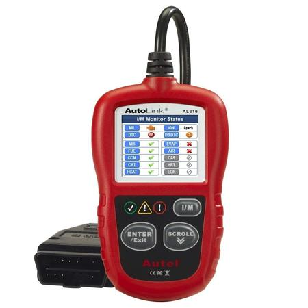 Autel AutoLink AL319 On-Board Diagnostics OBDII/CAN Code Reader Auto Fault Code