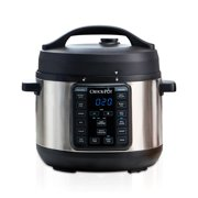 Crock-Pot 4 Qt 8-in-1 Multi-Use Express Crock Programmable Slow Cooker, Pressure Cooker, Saute, and Steamer, Stainless Steel