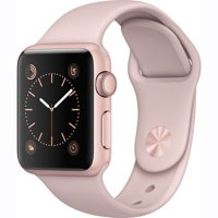 Refurbished Watch Series 1 38mm Apple Rose Gold Aluminum Case Pink Sand Sport Band MNNH2LL/A