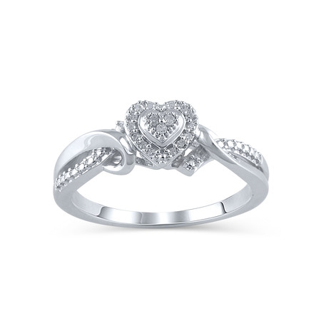 1/20 Carat T.W. Diamond Sterling Silver Promise Ring