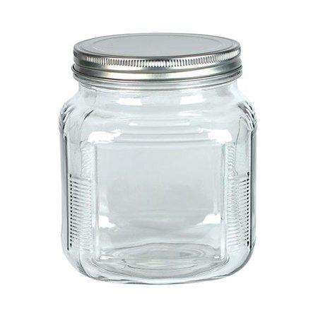 Glass Jars With Lids (Accessories - Glass Jar with Metal Lid 32 oz)
