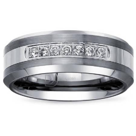 - .20 Carat T.W. Diamond Tungsten Carbide Men's Wedding Band (HI-I2)