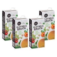 (4 Pack) Sam's Choice Organic Vegetable Broth, 32 oz