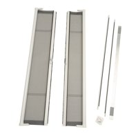 "ODL Brisa White Standard Double Door Single Pack Retractable Screen for 80"" Inswing/Outswing Doors"