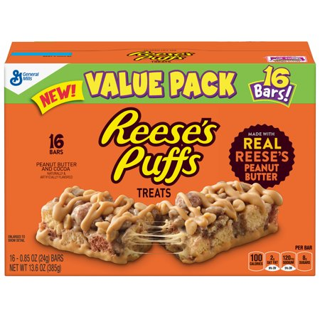 General Mills Cereal Bars - Reese's Puffs Treat Bars 16 Count, 0.85 OZ