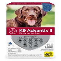 K9 Advantix II Flea and Tick Treatment for Extra Large Dogs