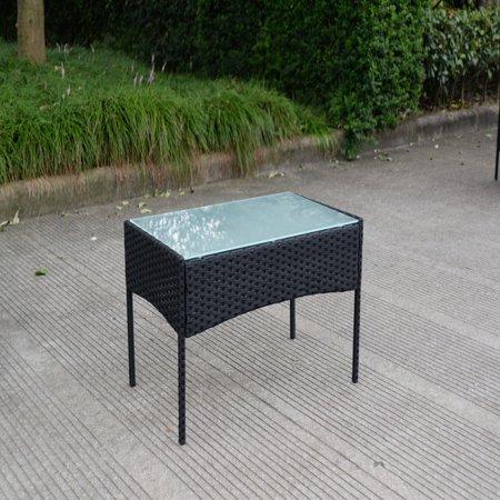 4pcs Patio Rattan Sofa Set Loveseat Cushioned Furniture Outdoor Garden - image 1 of 9