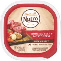 (24 Pack) NUTRO Wet Dog Food Cuts in Gravy Simmered Beef & Potato Stew, 3.5 oz. Tray