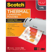 Scotch Premium Thermal Laminating Pouches 25 Pack, Letter Size Sheets