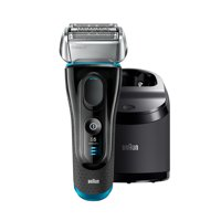 Braun Series 5 5190cc Men's Electric Foil Shaver with Clean & Charge System, Wet and Dry, Pop Up Precision Trimmer, Rechargeable and Cordless Razor