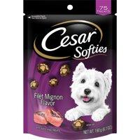 Cesar Softies Dog Treats Filet Mignon Flavor, 6.7 oz. Pouch (75 Treats)