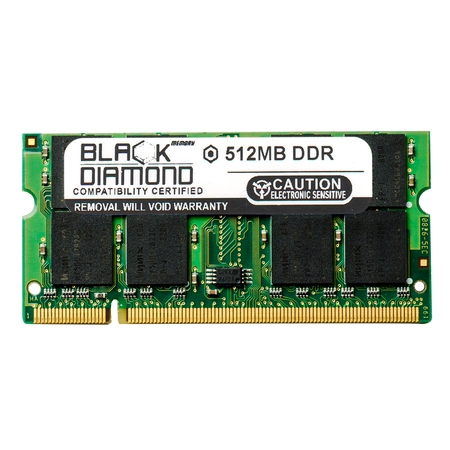 512MB Memory RAM for HP Presario Laptop M2207AP, M2210ap, M2211AP, M2212AP, M2213AP 200pin PC2700 333MHz DDR SO-DIMM Black Diamond Memory Module Upgrade 512 Mb Dimm Module