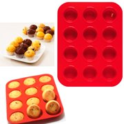 2 Mini Muffin Silicone 12 Cup Cavity Cookie Cupcake Bakeware Pan Soap Tray Mold
