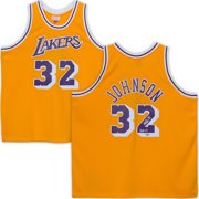 1a970f08836 Magic Johnson Los Angeles Lakers Autographed Mitchell & Ness Purple  Swingman Jersey with
