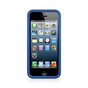 b23f8cf1705 Insten Hard Rubber Coated Case For Apple iPhone SE / 5 / 5S - Blue