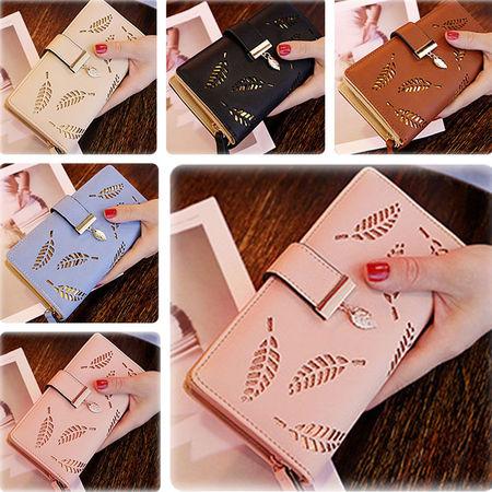 US Fashion Women Leather Clutch Lady Wallet Long PU Card Holder Purse Handbag (Wallet For Women Turquoise)