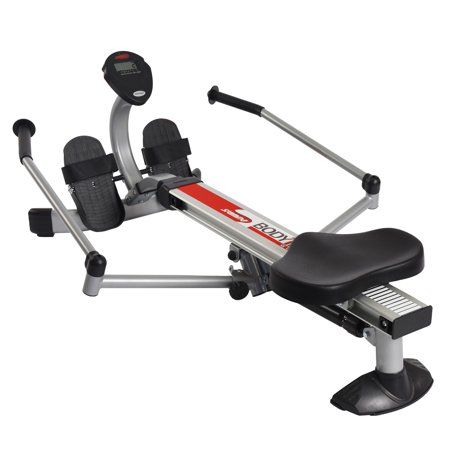 Body Trac Glider Rower w Gas Shock Resistance and Full-Range Rowing - Elevated Rowing Machine