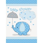 Blue Elephant Baby Shower Invitations, 8ct