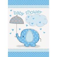Blue Elephant Baby Shower Invitations, 8ct