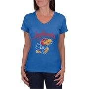 online store 3be5a ca833 NCAA Kansas Jayhawks Women s V-Neck Tunic Cotton Tee Shirt