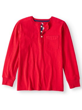 Long Sleeve Henley Tee with Pocket (Little Boys & Big Boys)