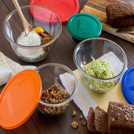 Pyrex 8-Piece Smart Essentials Mixing Bowl Set