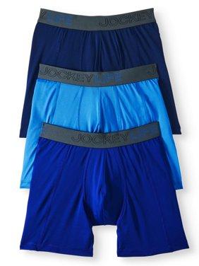 Men's Fresh Microfiber Long-Leg Boxer Brief - 3 pack