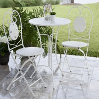 COSCO Outdoor Living 3-Piece Small Space Outdoor Bistro Set, White