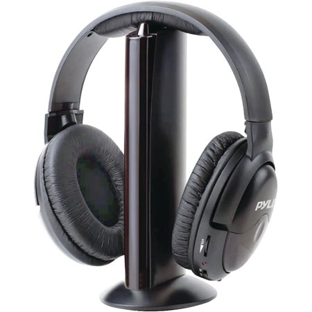 Pyle Pro PHPW5 Professional 5-in-1 Wireless Headphone System with Microphone - Hd 25 Professional Closed Headphone