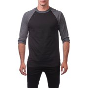 5aed944a732 Pro Club Men s 3 4 Sleeve Crew Neck Baseball Shirt