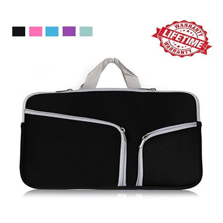 15 Executive Bag - IClover 15 Inch Water Resistant Thickest Protective Slim Laptop Case for Macbook Apple Samsung Chromebook HP Acer Lenovo Portable Laptop Sleeve Liner Package Notebook Case Soft Sleeve Bag Black