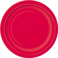 Paper Plates, 7 in, Red, 50ct