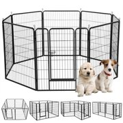 Metal Pet Dog Puppy Cat Exercise Fence Barrier Playpen Kennel(16 Panels/8 Panels)