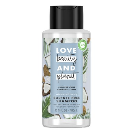 Love Beauty And Planet Volume and Bounty Thickening Shampoo for Thinning Hair, Coconut Water & Mimosa Flower 13.5 oz ()