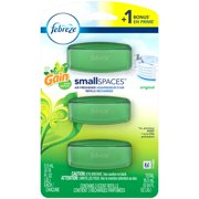 (2 pack) Febreze Small Spaces Air Freshener Refills with Gain Scent, Original, 6 count