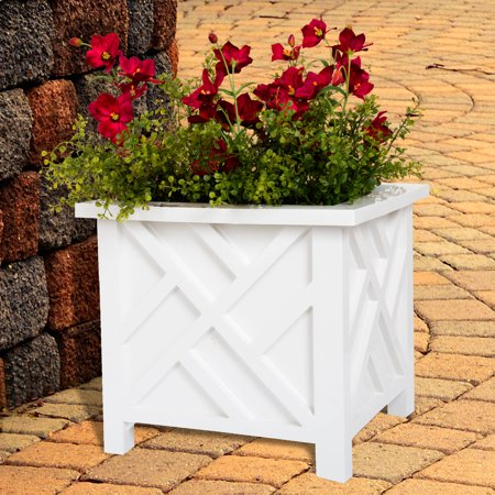 Plant Pot Holder, Planter Container Box by Pure Garden, (Make Wooden Planter Box)