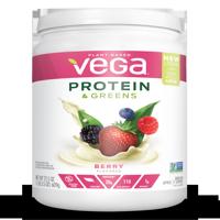 Vega Plant Protein & Greens Powder, Berry, 20g Protein, 1.3 Lb