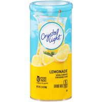 (6 Pack) Crystal Light Lemonade Drink Mix, 6 count Canister