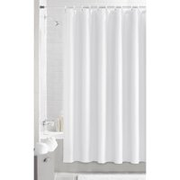 Mainstays Waffle Woven Textured Fabric Shower Curtain