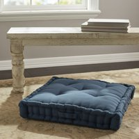 "Better Homes & Gardens Tufted Square Floor Cushion, 24""x 24"" x 3"", Multiple Colors"