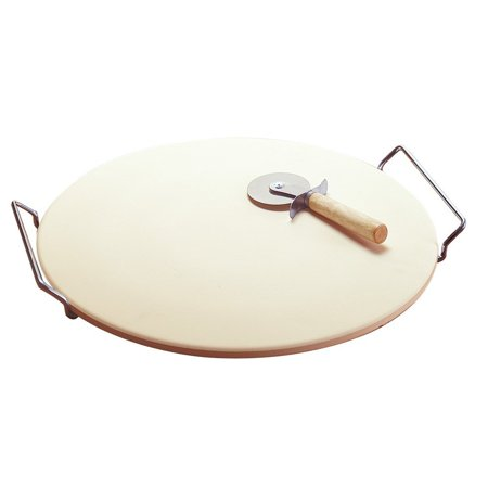 - Goo Cook Round Pizza Baking Stone Metal Rack, 2 Piece