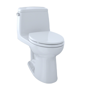 TOTO MS854114E#01 Eco Ultramax Elongated One Piece Toilet, Cotton White