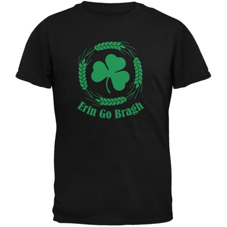 St. Patricks Day - Erin Go Bragh Black Adult T-Shirt