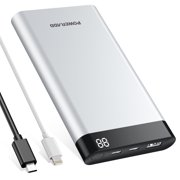 Poweradd Virgo II 10000mAh Power Bank (USB-C Input & Output 5V/3A) Portable Charger for iPhone X, Samsung Galaxy, Nexus Mobile Cellphone