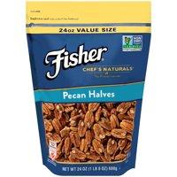 (2 Pack) Fisher Chef's Naturals Pecan Halves, Non-GMO, 24 oz