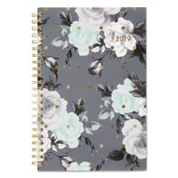 Cambridge® TEA TIME WEEKLY/MONTHLY PLANNER, 4 7/8 X 8, GOLD/GRAY/WHITE, 2019