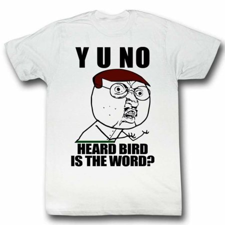 Y U No Memes Bird Adult Short Sleeve T Shirt - Gay Halloween Meme