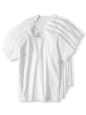 Boys Crew Neck Undershirt, 5 Pack